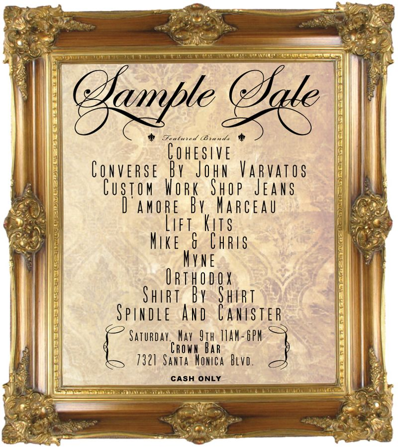 Cohesive Sample Sale